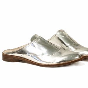 Louise et Cie Freyda Silver Patent Leather Mules